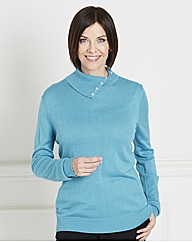 Roll Neck Sweater With Jewels