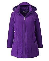 Microfibre coat with Detachable Hood