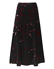 Print Velour Skirt L32