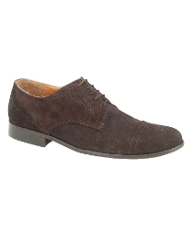 Magnus Distressed Waxy Suede Brogues