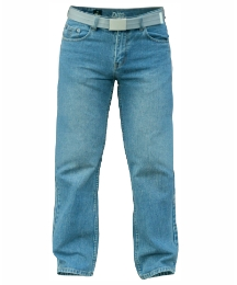 D555 Straight Leg Jean and Belt 32in Leg