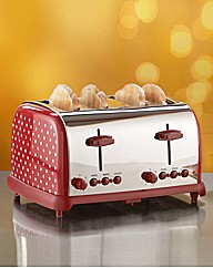 Polka Dot 4 Slice Toaster