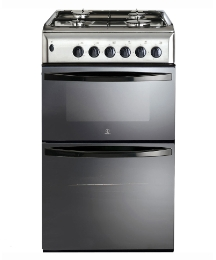 Indesit 5Ocm Gas Twin Cavity Cooker