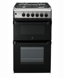 Indesit 50cm Gas Twin Cavity Cooker Ins