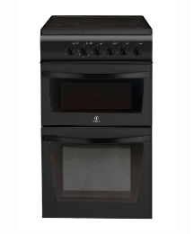 Indesit 50cm Ceramic Twin Elect Oven