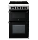 Indesit 50cm Ceramic Twin Cavity Cooker
