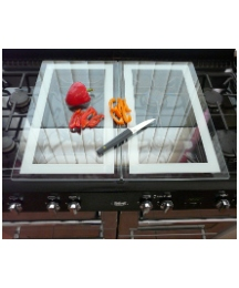 Pack of 2 Glass Stove Covers