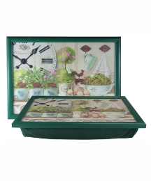 Clocks and Herbs Laptray