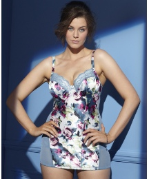 Underwired Satin Rose Print Full Slip