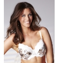 Arlene Phillips Floral Print Satin Bra