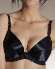 Splendour Underwired Satin Plunge Bra
