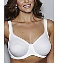 Pour Moi White Imogen Rose Cotton Bra