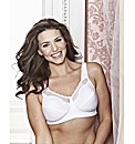 Bestform White Cotton Comfort Bra