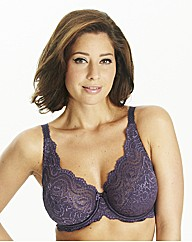 Playtex Dark Purple Flower Lace Bra
