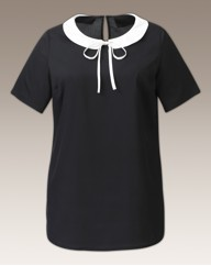 Peter Pan Contrast Collar Blouse