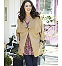 One Button Knitted Shawl Collar Cardigan