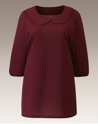 Peter Pan Collar Jersey Top