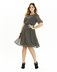 Tile Print Day Dress