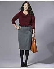Mix & Match Herringbone Pencil Skirt