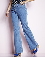 TRULY WOW Bootcut Jeans Length 28in