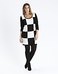 Checkerboard Jumper Dress