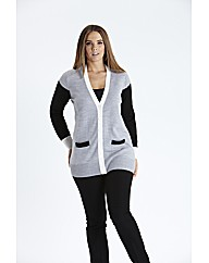 Colour Block Boyfriend Cardigan
