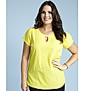 Keyhole Blouse Length 25in