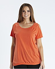 Cold Shoulder Jersey Top