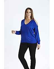 Cut Out Shoulder Jumper