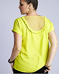 Back Lace Panel Blouse