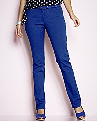 TRULY WOW Coloured Slim Leg Jeans 33in