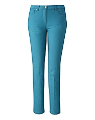 TRULY WOW Coloured Slim Leg Jeans 30in