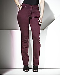 TRULY WOW Coloured Slim Leg Jeans 27in