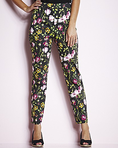 floral trousers, plus size trousers,