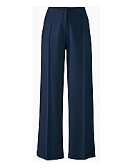 Wide Leg Linen Mix Trousers Length 33in
