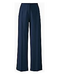 Wide Leg Linen Mix Trousers Length 30in