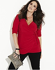 MAGISCULPT Mock Wrap Top