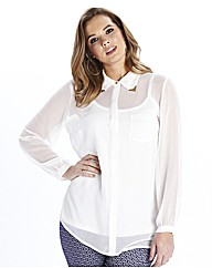 Collar Tipped Blouse