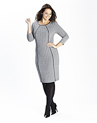 Tweed Effect Fitted Dress