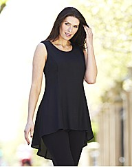 Fit and Flare Dipped Hem Blouse