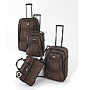 Four Piece Leopard Print Luggage Set