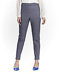 Jacquard Trousers 32in Silver/Blue