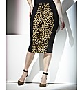 Truly WOW Leopard Panel Skirt