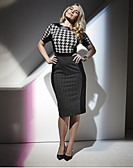TRULY WOW Houndstooth Illusion Dress