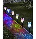 Butterfly Solar Powered Stake Lights 6pk