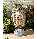 Brown Owl Solar Light with Moving Head