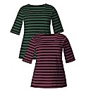 Pack of 2 Striped Tops