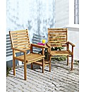 Amalfi Two Seater Lovers Bench