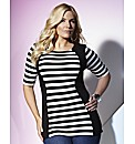 TRULY WOW Stripe Illusion Top