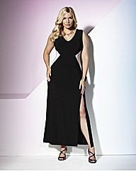 TRULY WOW Maxi Dress With Side Panels